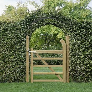 Les cl tures de jardin la maison verte - Portillon jardin bois ...